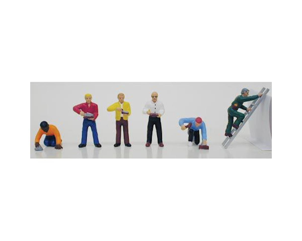 Model Power HO Masons/Bricklayers (6)