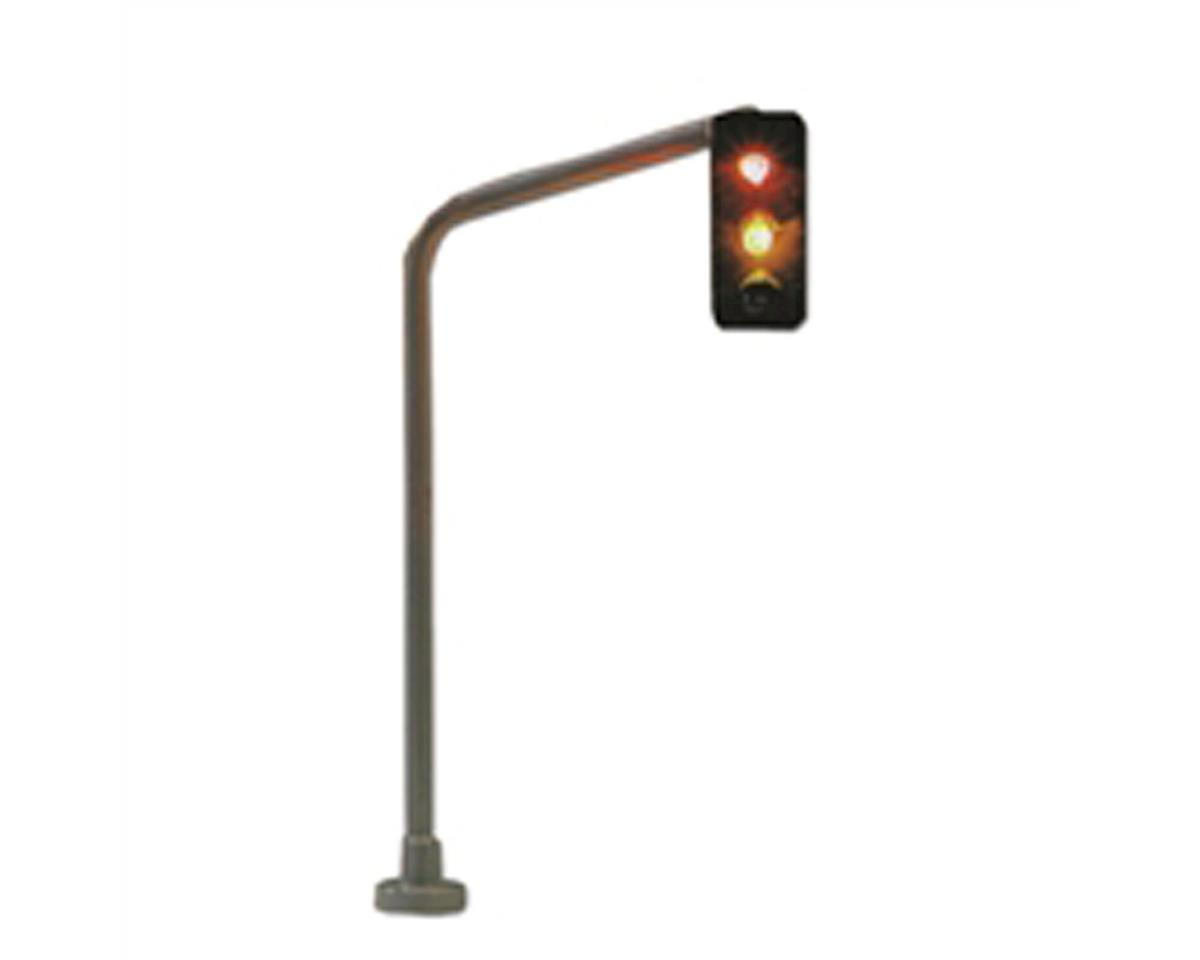 HO Traffic Light, Hanging/Right w/Switch by Model Power