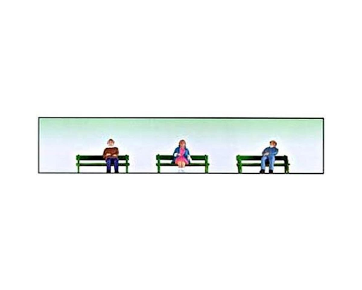 O Sitting People w/Benches (6) by Model Power