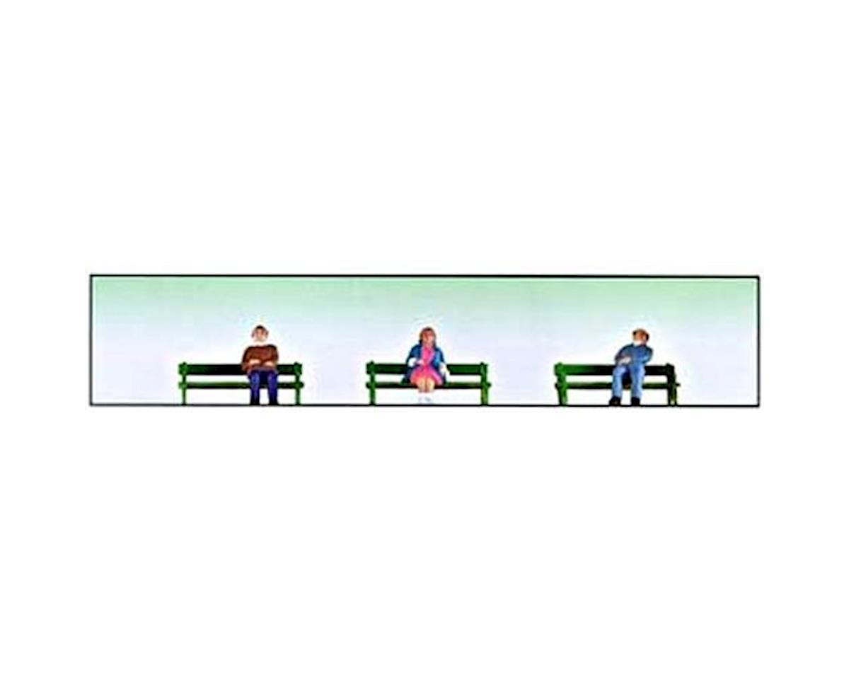 Model Power O Sitting People w/Benches (6)
