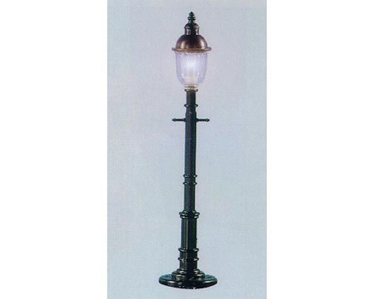 Model Power O Old Time Gas Lamp Post, Round/Gray (3)