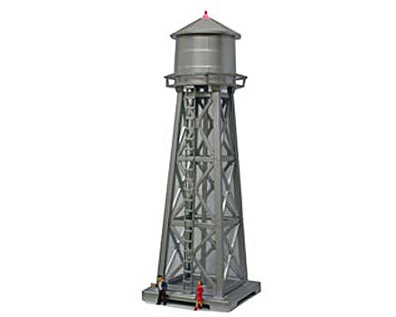 "Model Power HO-Scale Built-Up ""Water Tower"" w/Figures (Lighted)"
