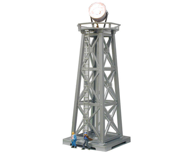 "HO-Scale Built-Up ""Searchlight Tower"" w/Figures (Lighted)"