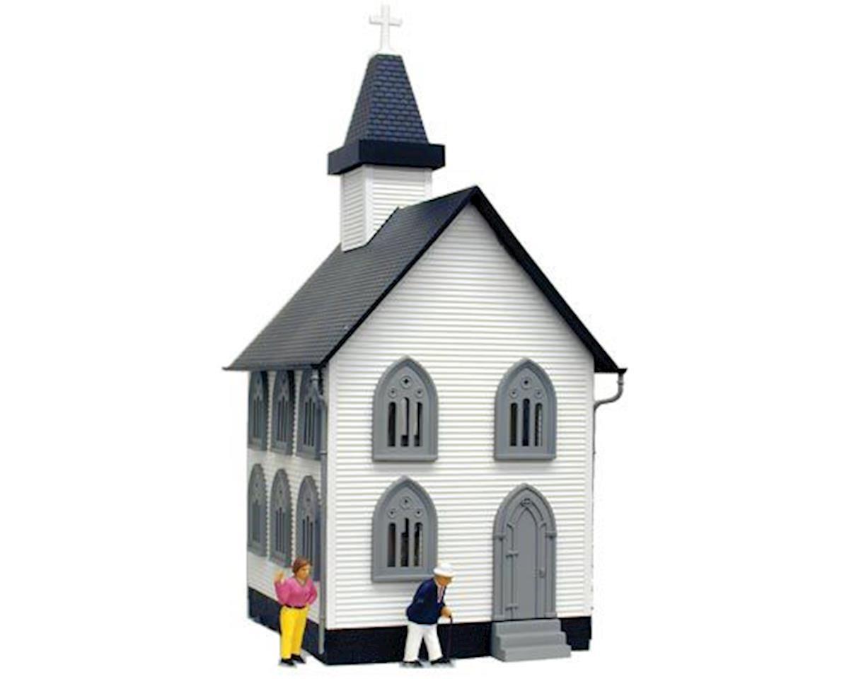 Model Power O B/U Church, Lighted w/Figures