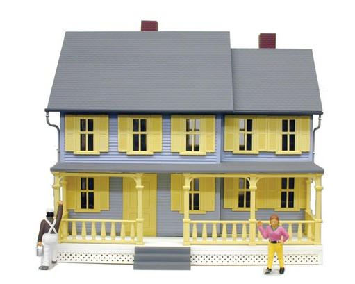 "Model Power O-Scale Built-Up ""Jordan's House"" w/Figures (Lighted)"