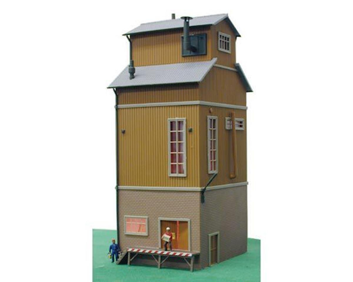 Model Power HO B/U Grading Tower, Lighted w/Figures