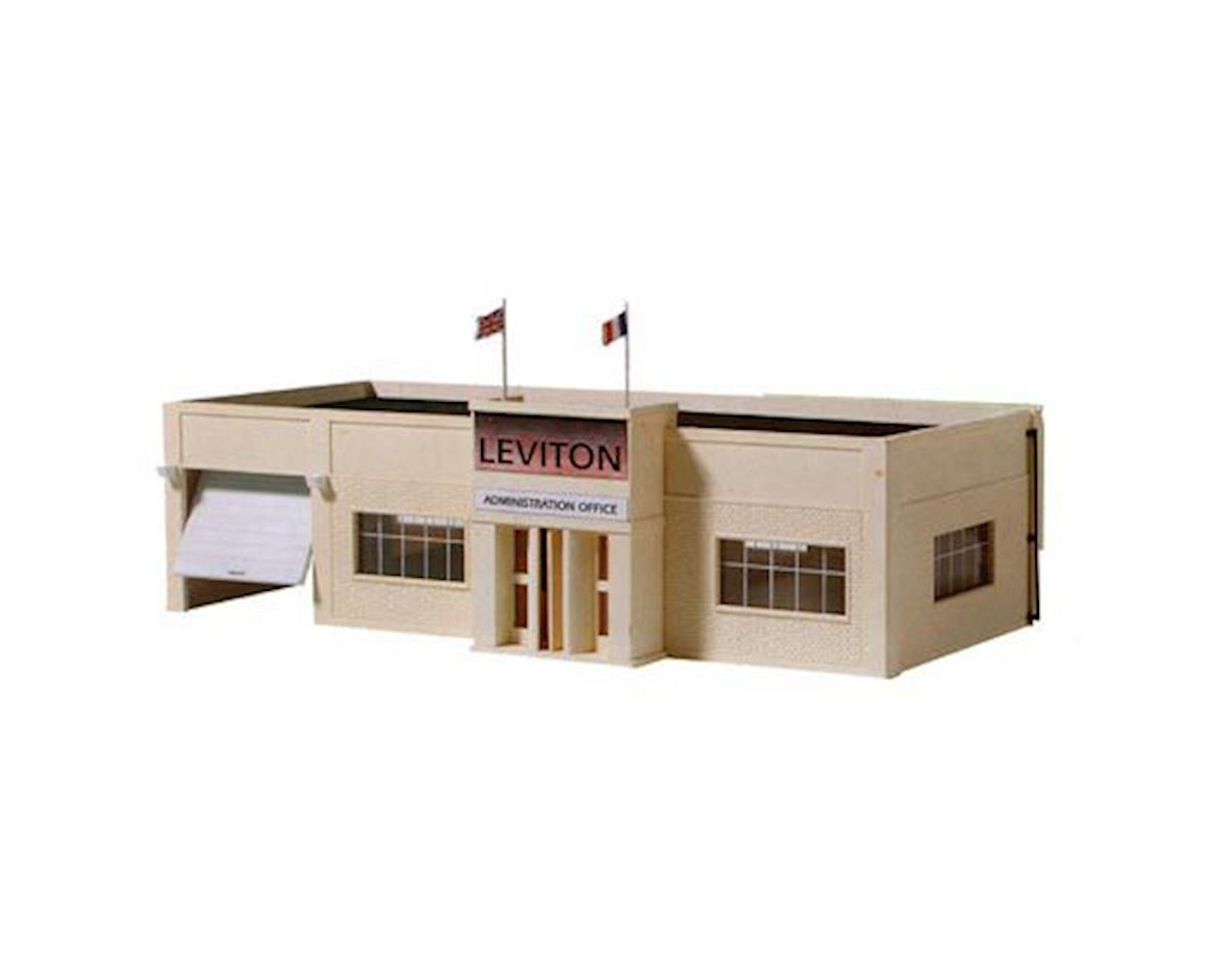 HO B/U Leviton Offices, Lighted w/Figures by Model Power