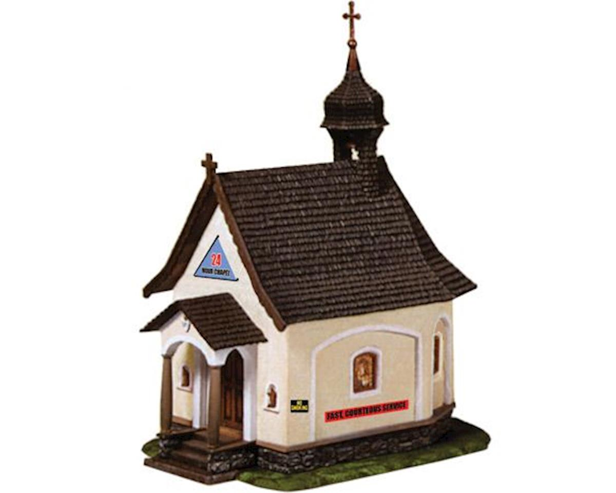 HO 24-Hour Chapel Built-Up by Model Power
