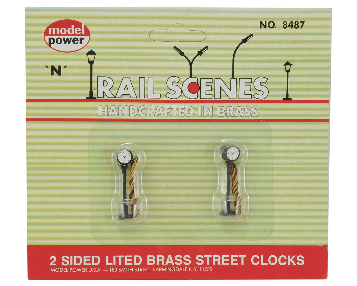 Model Power N-Scale Street Clocks (2)