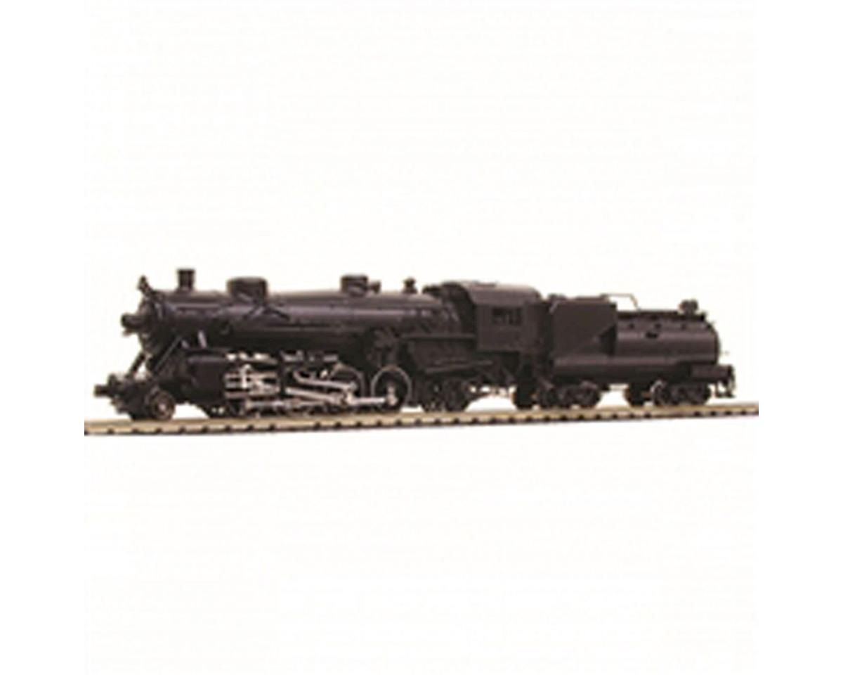 Model Power N 2-8-2 w/Vandy Coal/Oil Tender, Undecorated