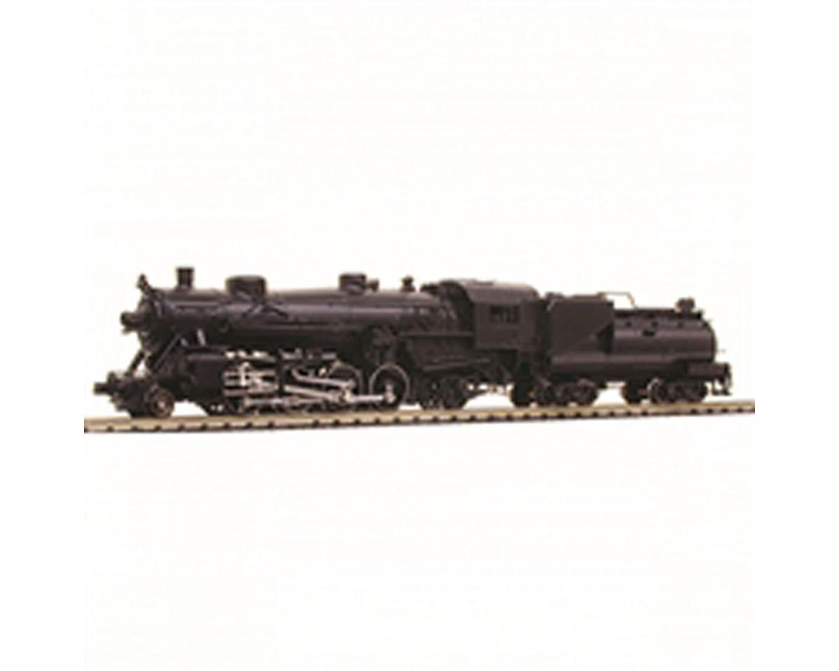 Model Power N 2-8-2 w/Vandy Coal/Oil Tender, Undecorated