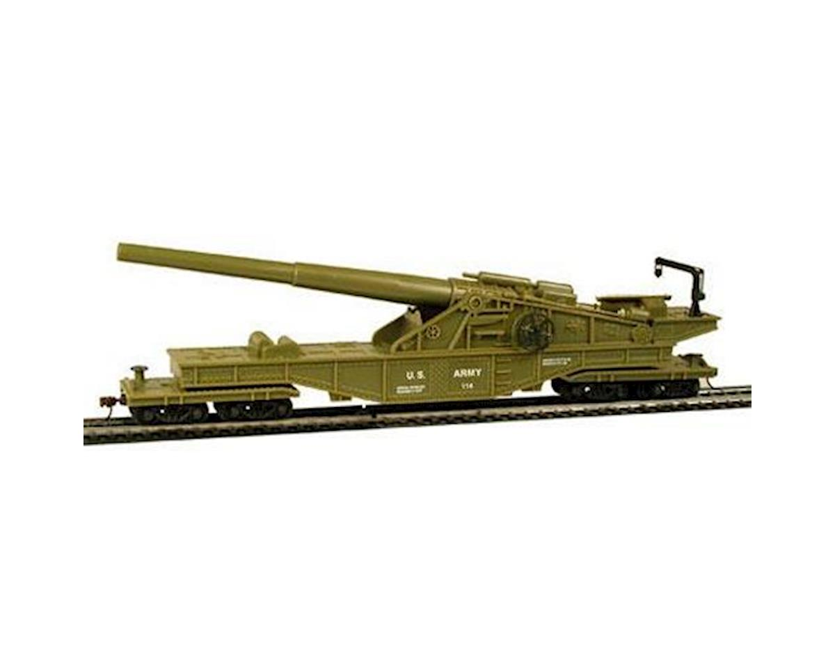 HO Big Cannon Railcar US Army