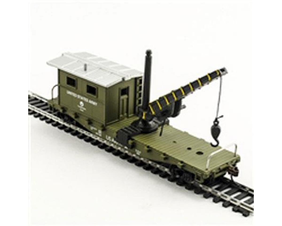 Model Power HO Work Caboose w/Crane, US Army