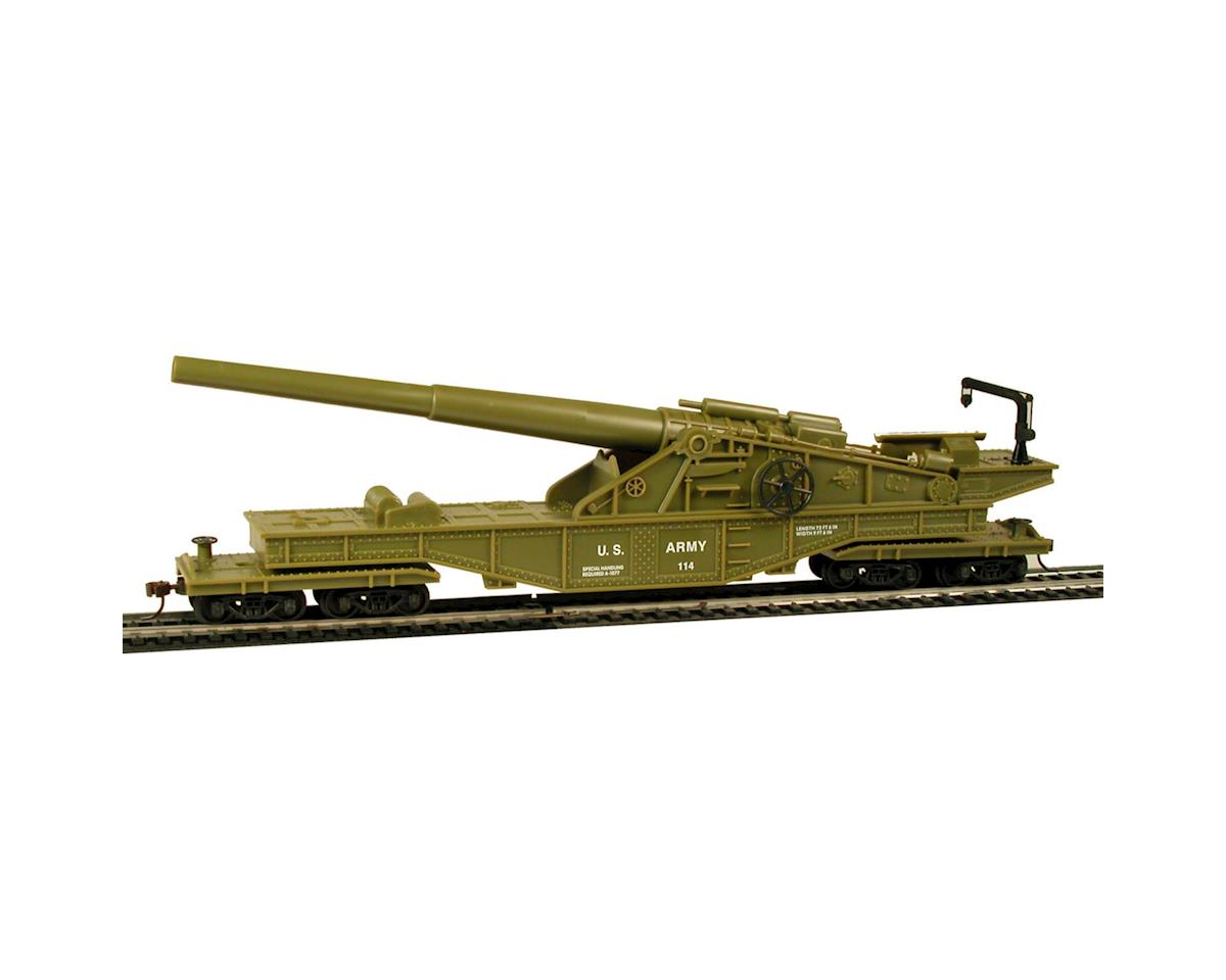 Model Power HO Big Cannon Car, US Army