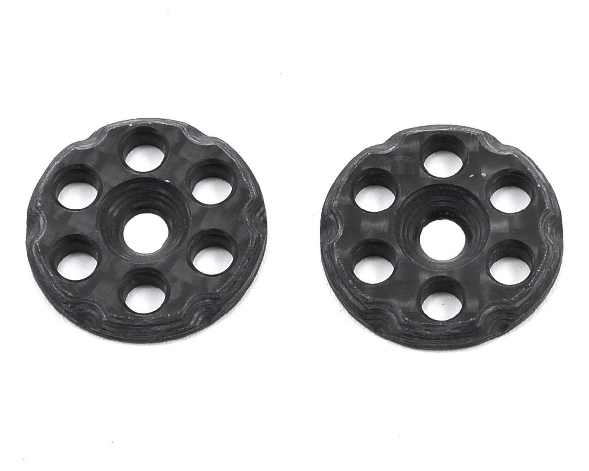 Mckune Design 6 Hole Carbon Fiber Wing Buttons (2) (Schumacher CAT K2)