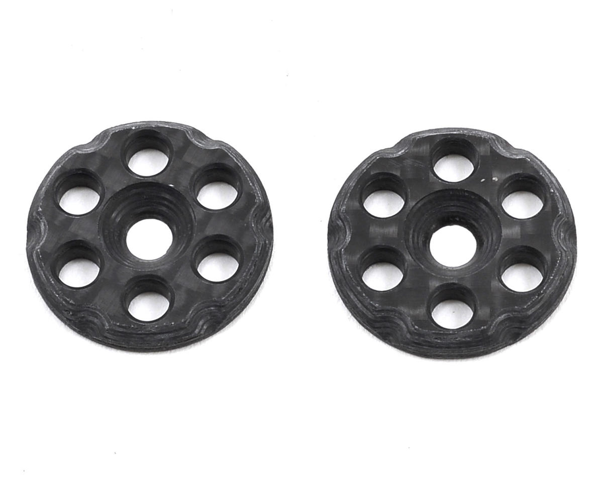 Mckune Design 6 Hole Carbon Fiber Wing Buttons (2) (Schumacher Cougar KF2)