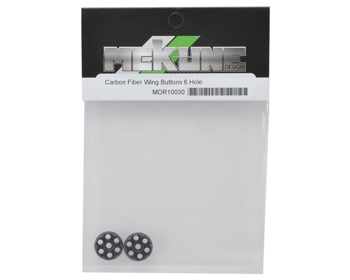Mckune Design 6 Hole Carbon Fiber Wing Buttons (2)