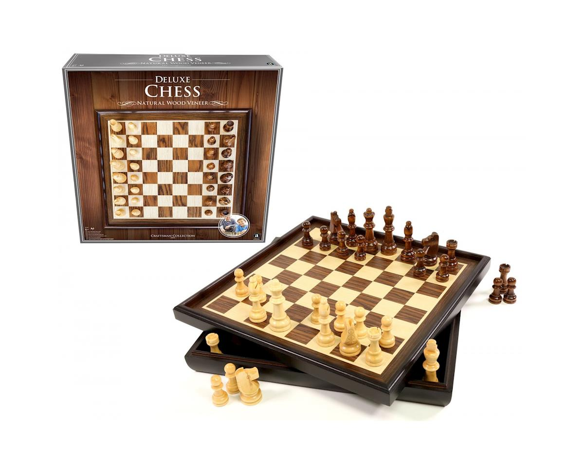 Wood Veneer Deluxe Chess Set