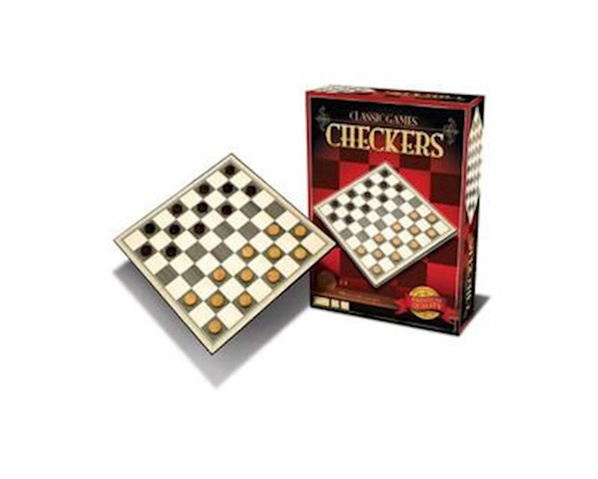 Merchant Ambassadors Classic Games Wood Checkers