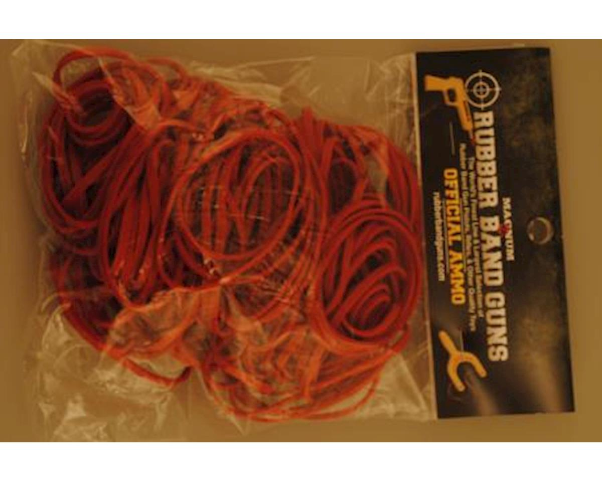 Magnum Enterprises RB324OZ Rubberband Shooter Ammo - Pistol Ammo-Red (size 32, 4-oz. bag)