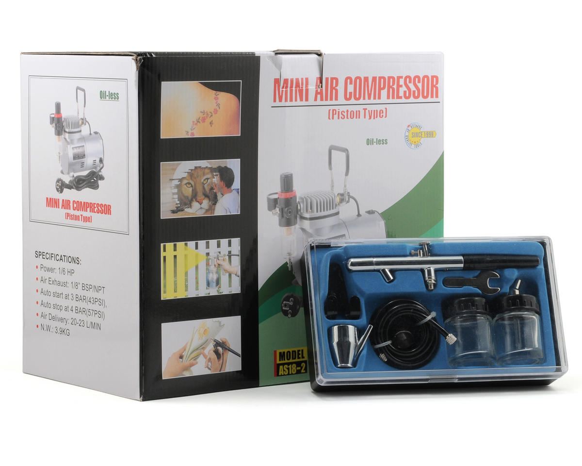 Model Expo 1/6 HP Compressor w/Double Action Air Brush
