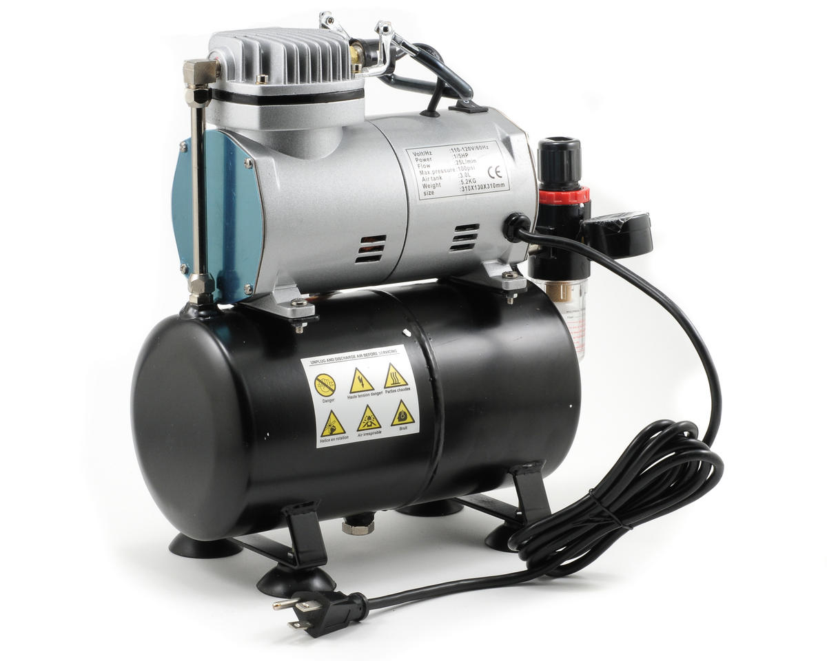 Model Expo 1/5 HP Mini Air Compressor w/Regulator, Filter & Tank