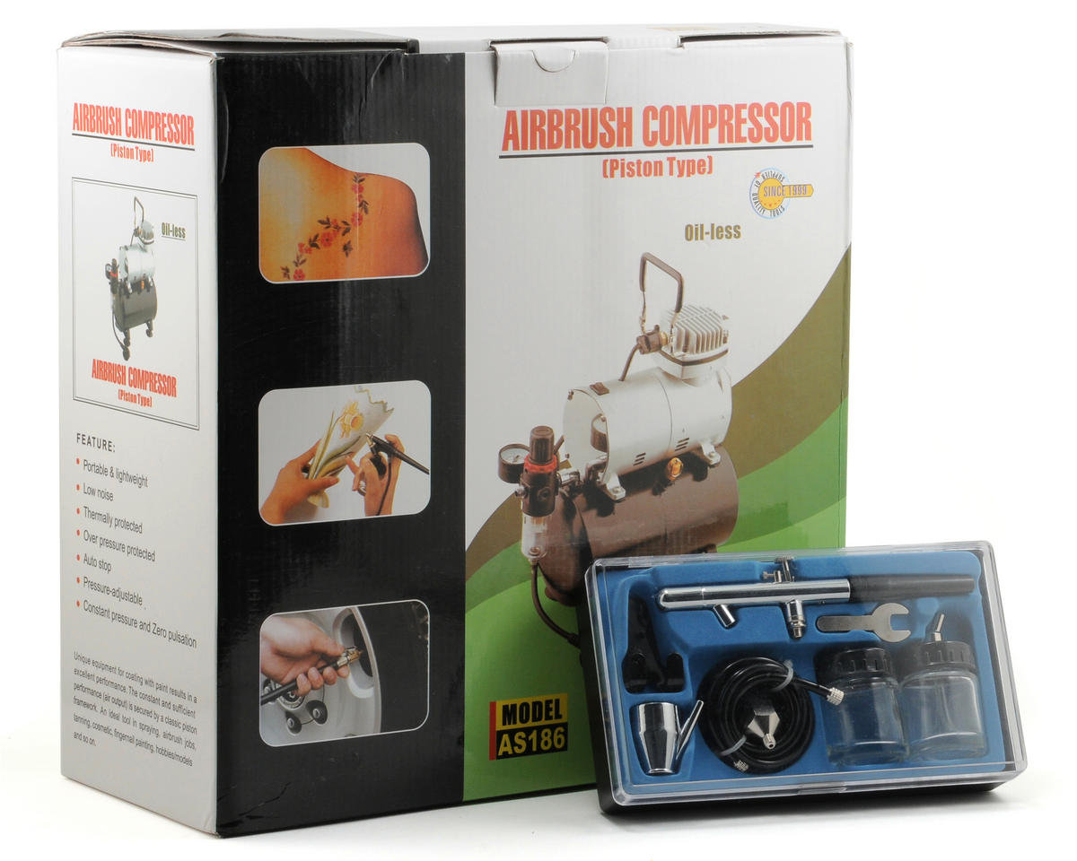 Model Expo 1/5 HP Air Compressor w/Tank & Double Action Airbrush