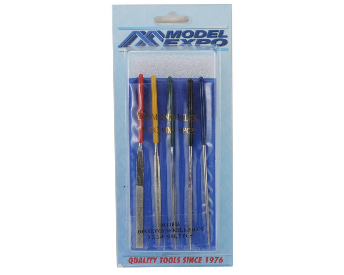 Model Expo Diamond Coated Needle File Set (5)