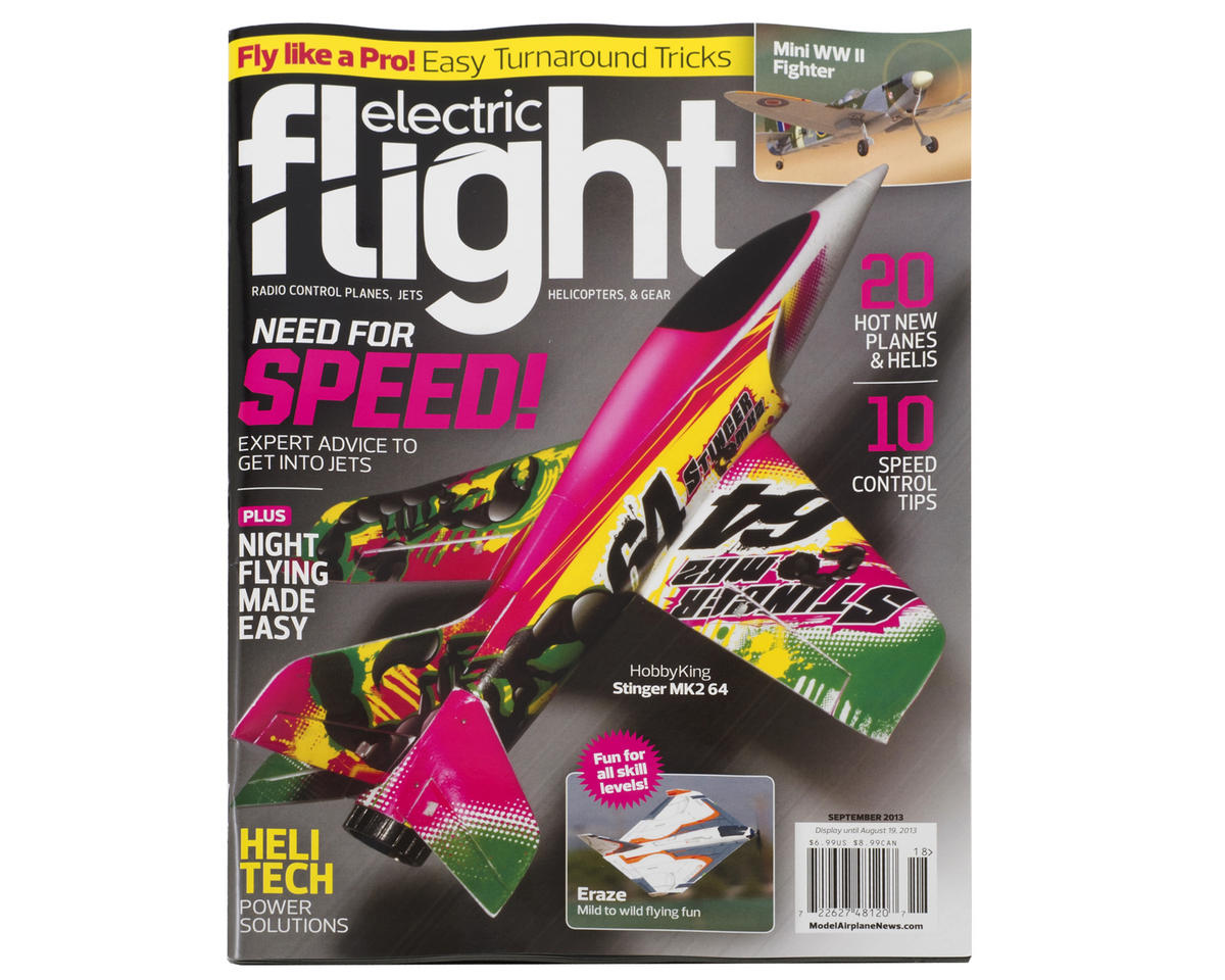 electric flight magazine formerly backyard flyer september