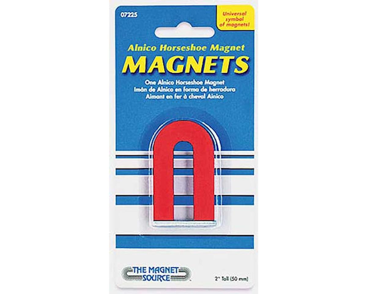 The Magnet Source  Red Alnico Horseshoe Magnet