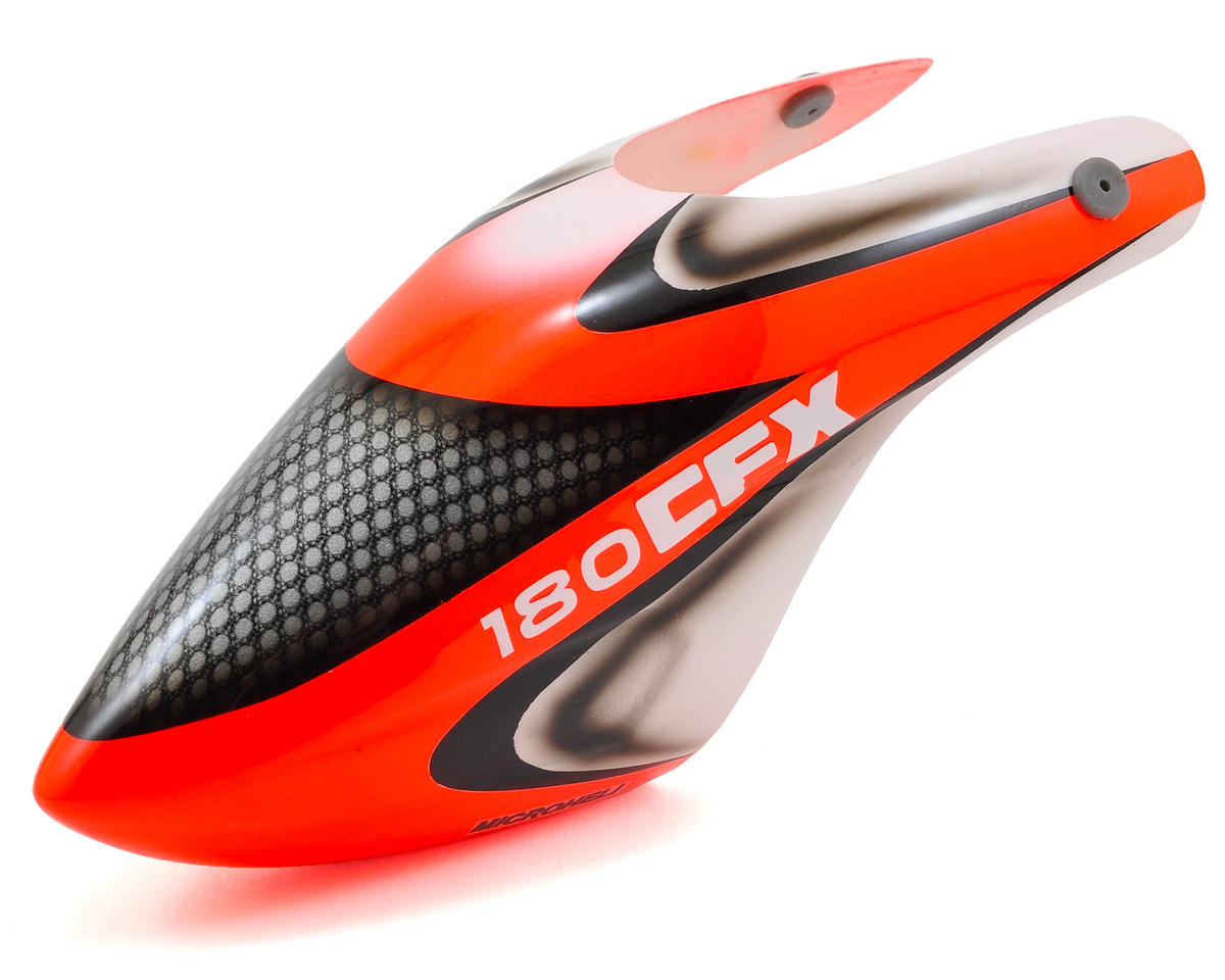 """MicroHeli Fiberglass """"Rocket"""" Airbrush Canopy"""
