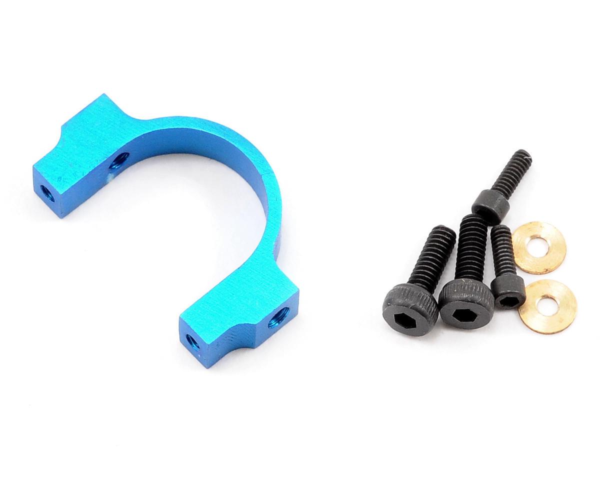 MicroHeli Aluminum CNC Horizontal Fin Holder (Blue) (Blade 400)