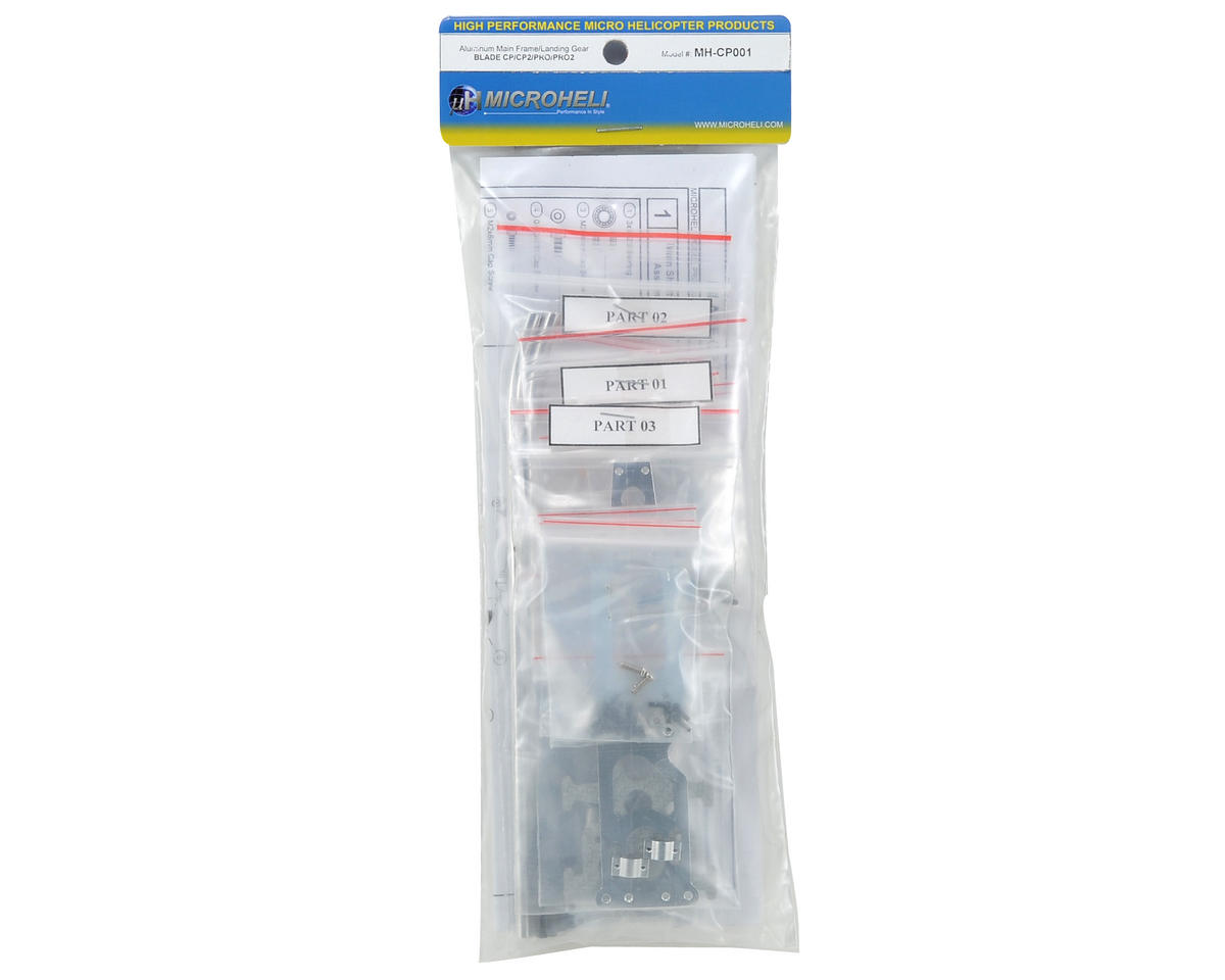 MicroHeli Aluminum Main Frame & Landing Gear Set