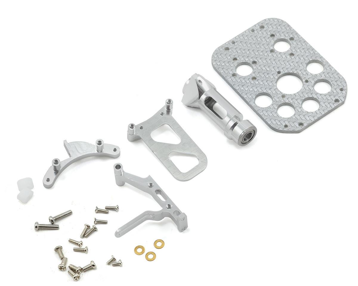 MicroHeli Precision CNC Main Frame Set (Silver) (CX2/CX3)