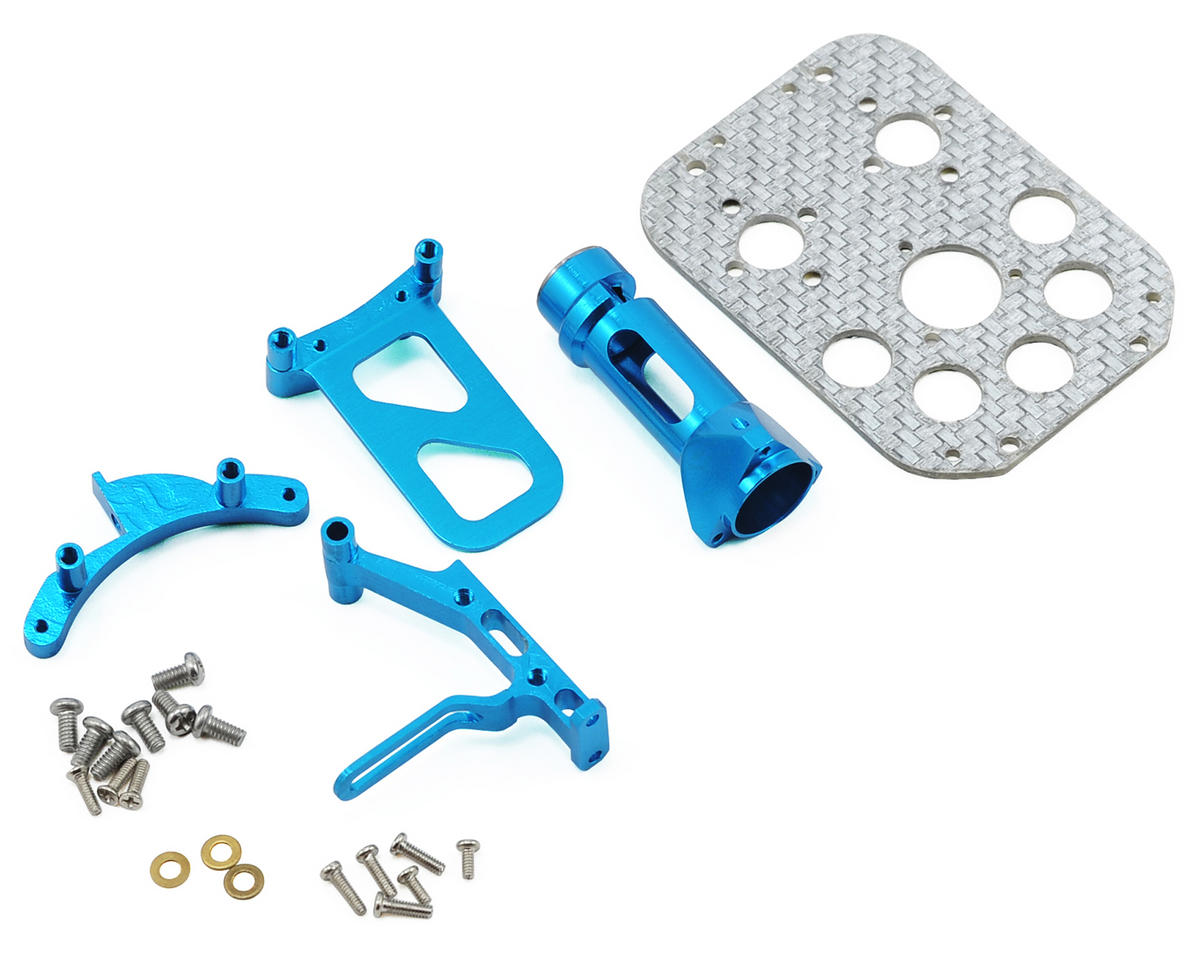 MicroHeli Precision CNC Main Frame Set (Blue) (CX2/CX3)