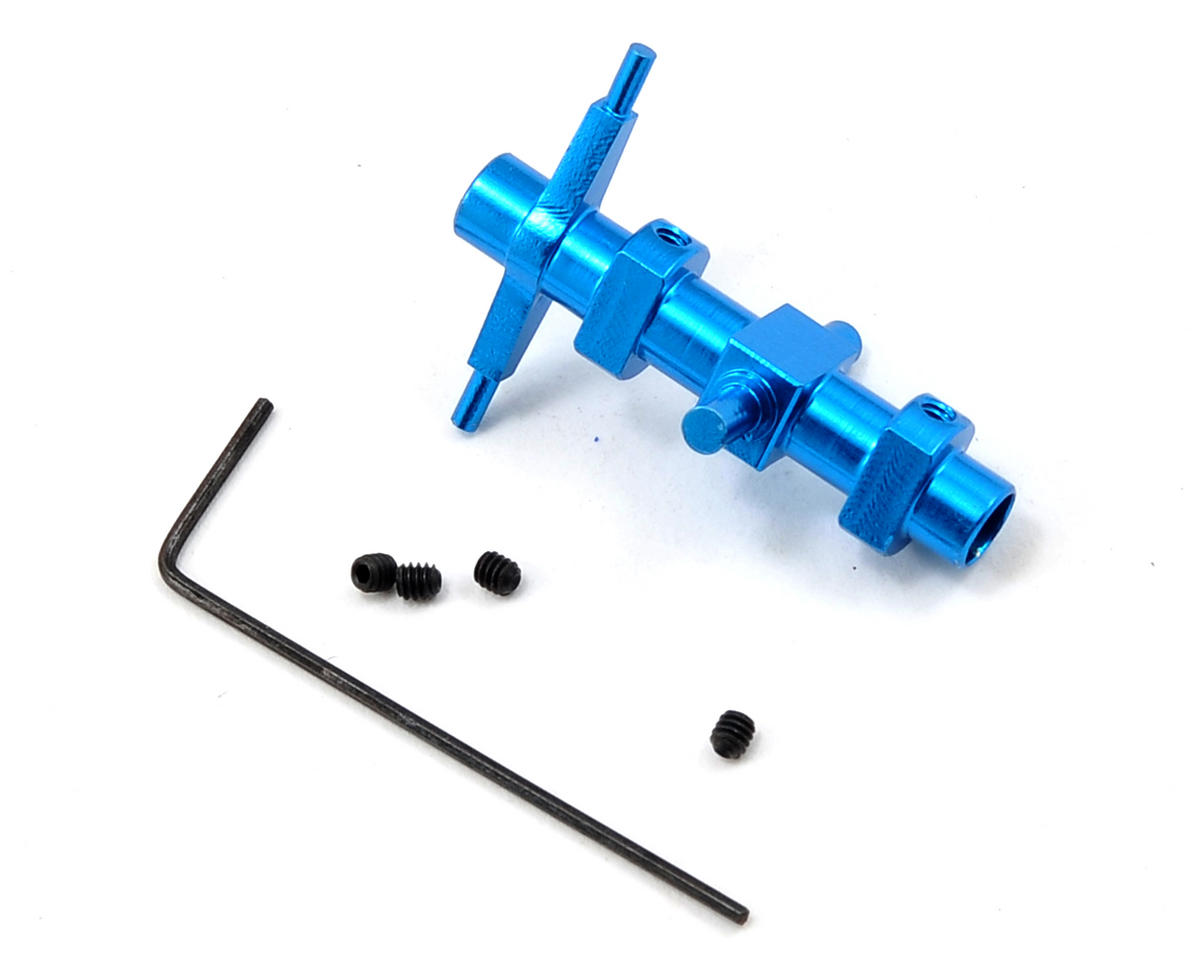 MicroHeli CNC Lower Head (Blue) (CX/CX3)