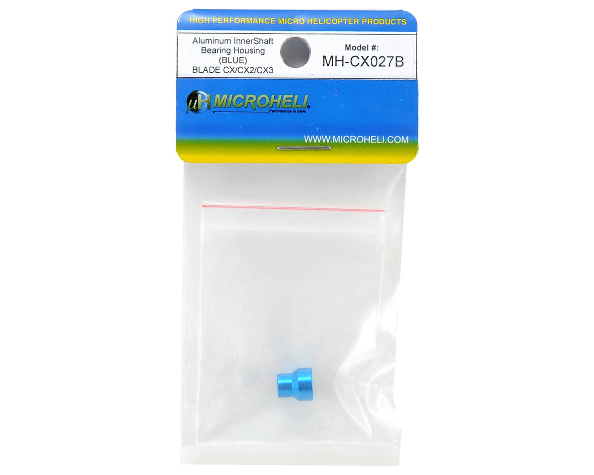 MicroHeli Aluminum Inner Shaft Bearing Housing (Blue)