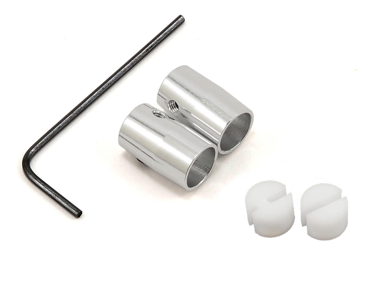 MicroHeli Aluminum Flybar Weight Set (Silver)