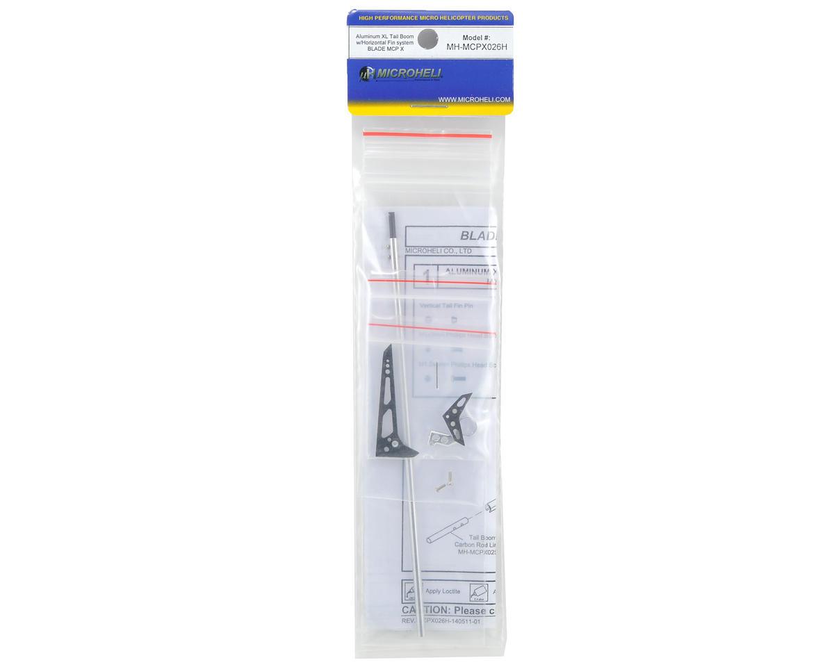 MicroHeli Aluminum XL Tail Boom System w/Horizontal Fin
