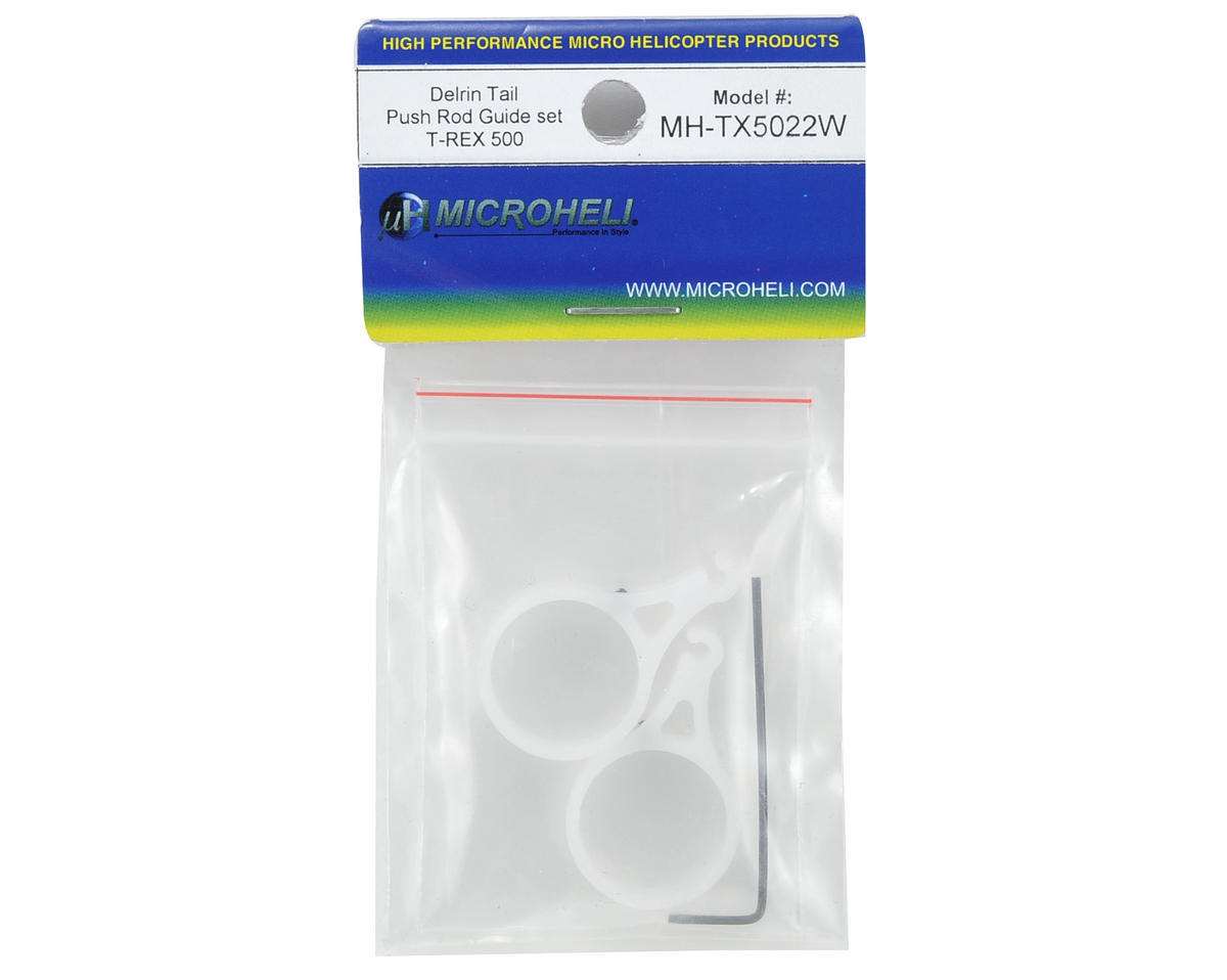 MicroHeli Delrin Tail Push Rod Guide Set (White)