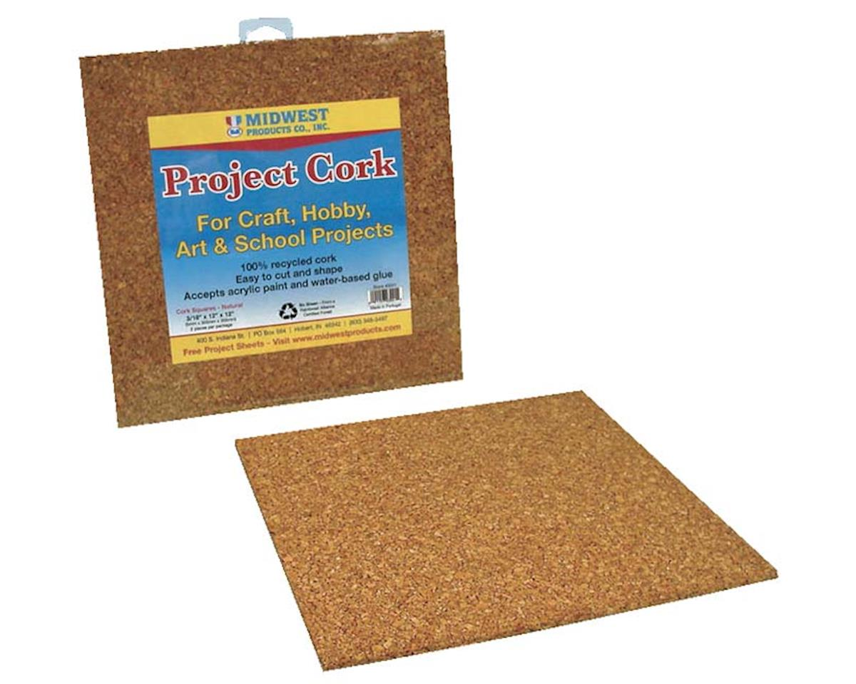 """Midwest 3041 Cork Squares Natural 3/16x12x12"""" (2)"""