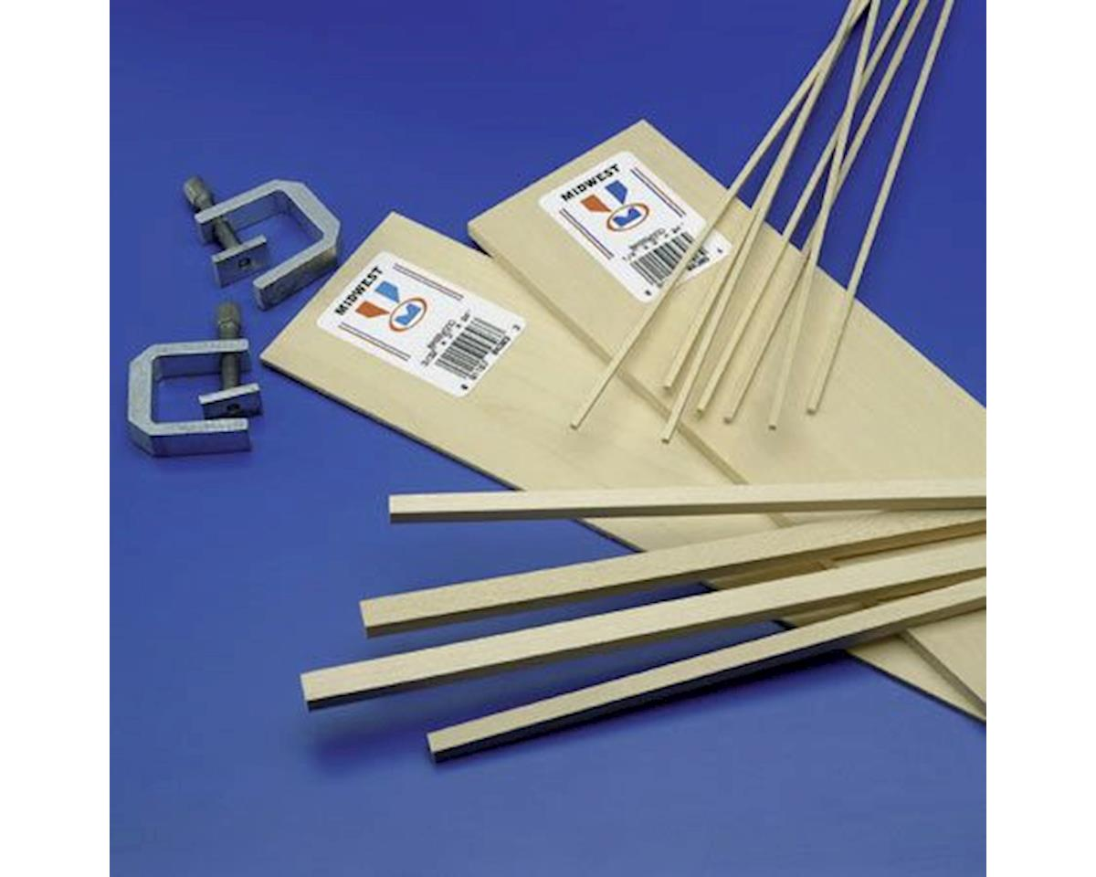 Basswood Strips 1/8x3/8x24 (20) by Midwest
