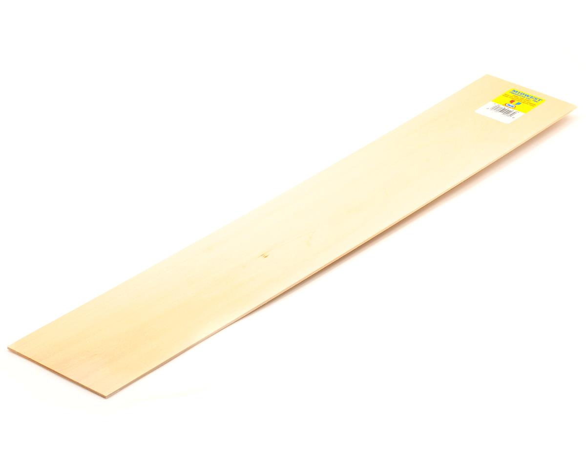 "Midwest 3/32 x 4 x 24"" Basswood Strip (15)"