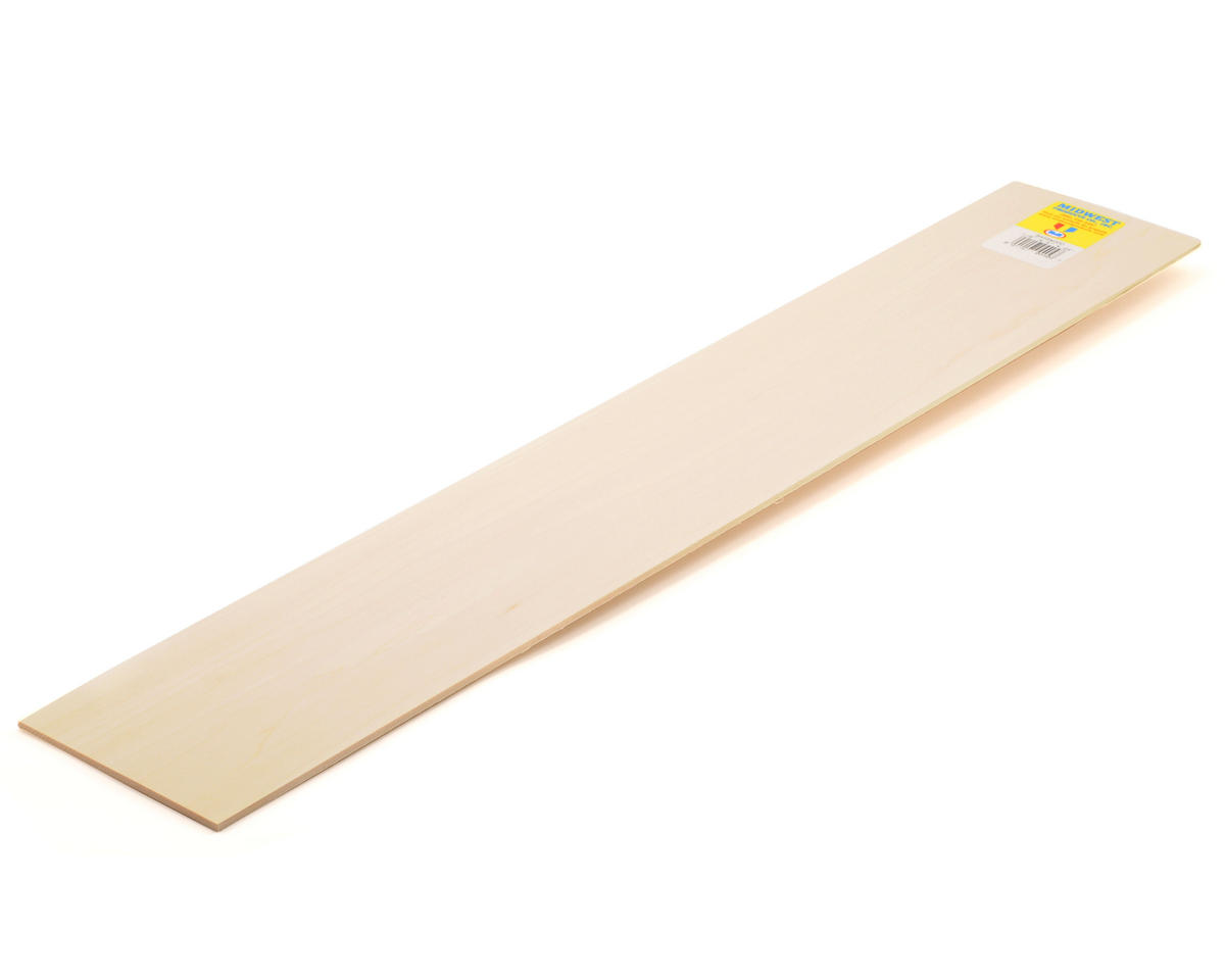 "Midwest Basswood Strips 1/8 x 4 x 24"" (15)"