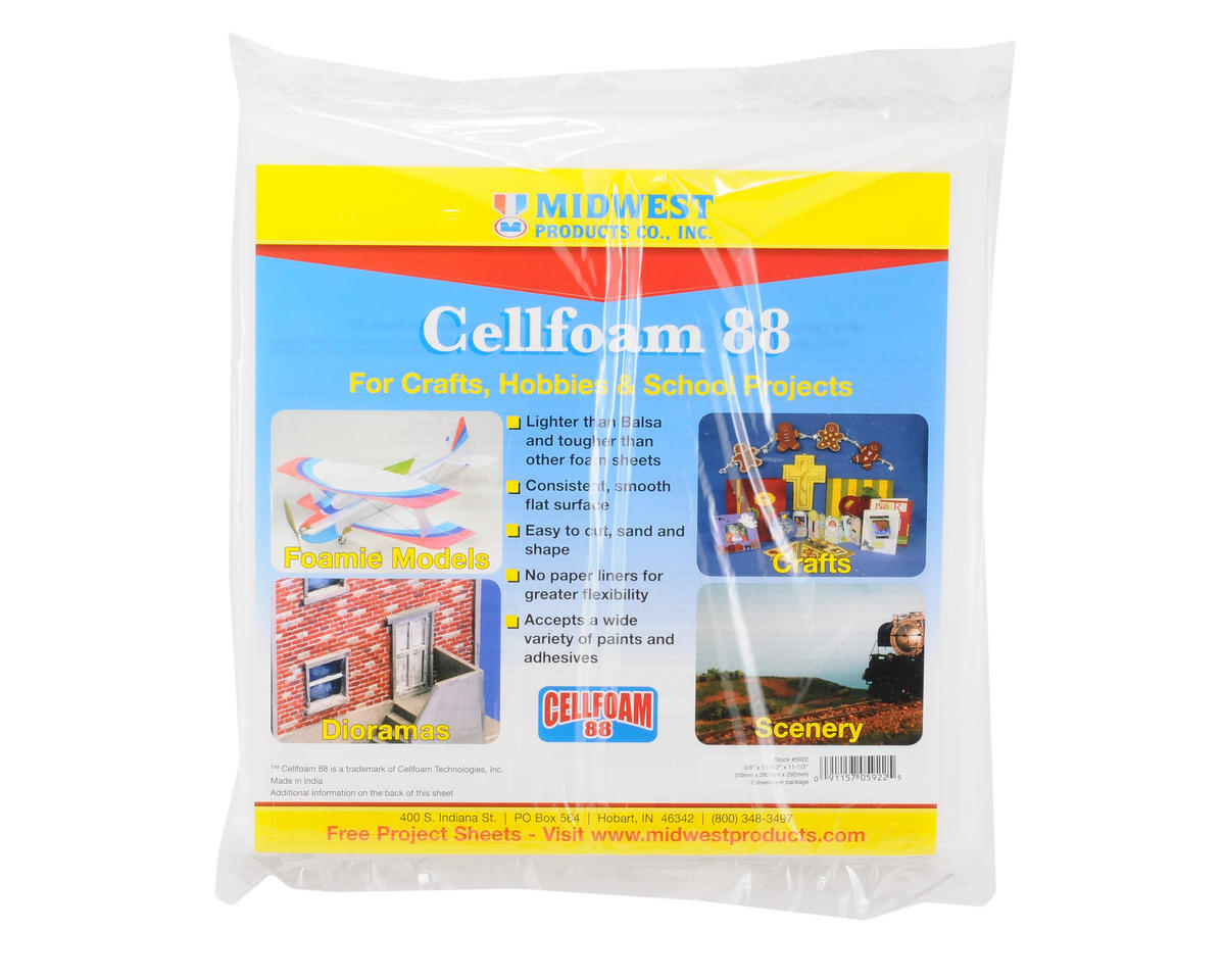 "Midwest 11.5x11.5"" Cellfoam 88 Sheet (2) (10mm)"