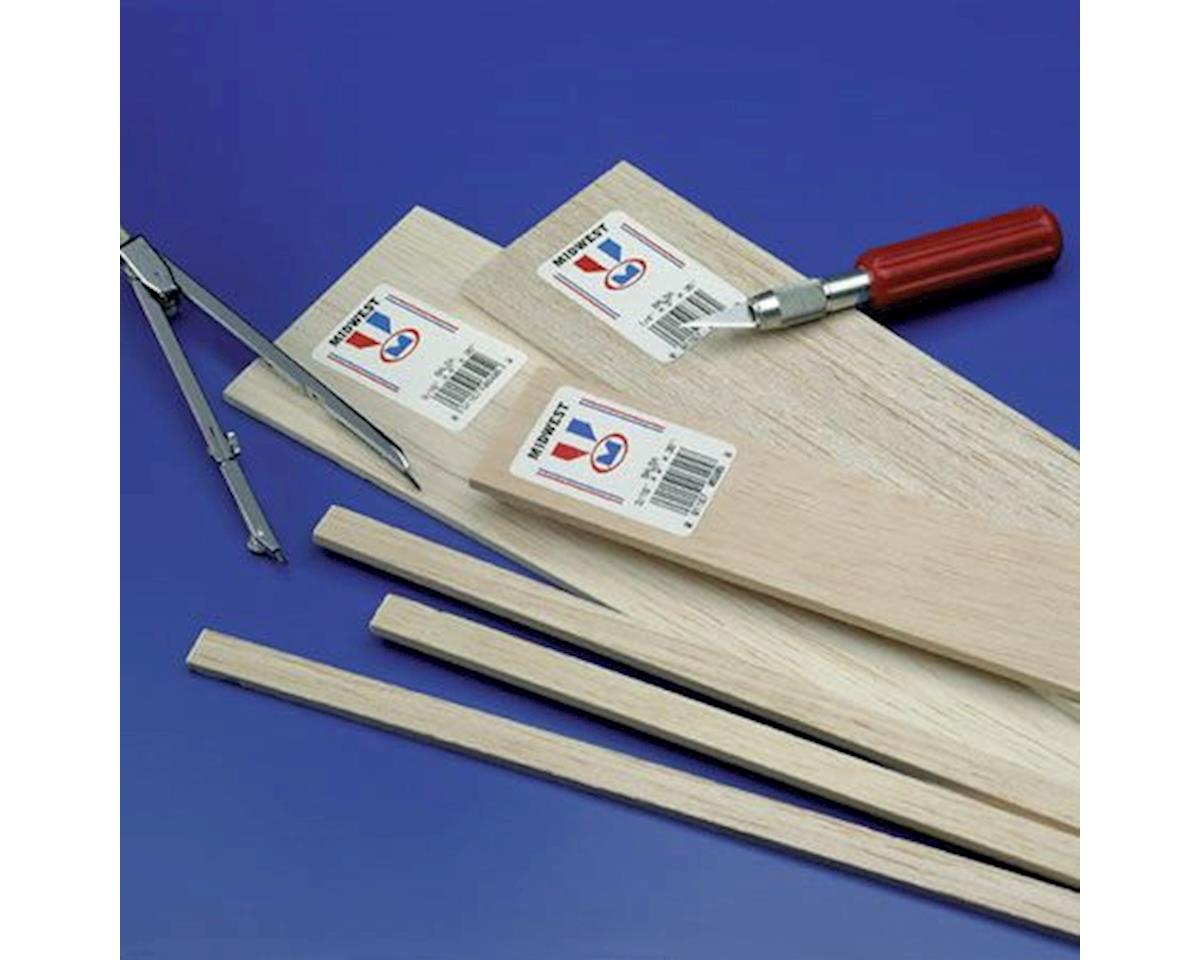 Midwest Balsa Sheets 1 x 1 x 36 (6)