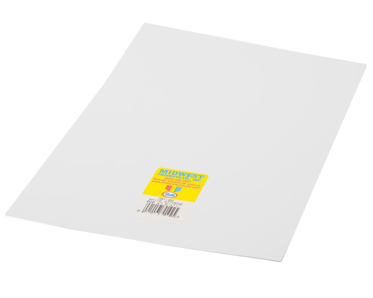 "Midwest White Styrene .020 x 7.6 x 11"" (4)"