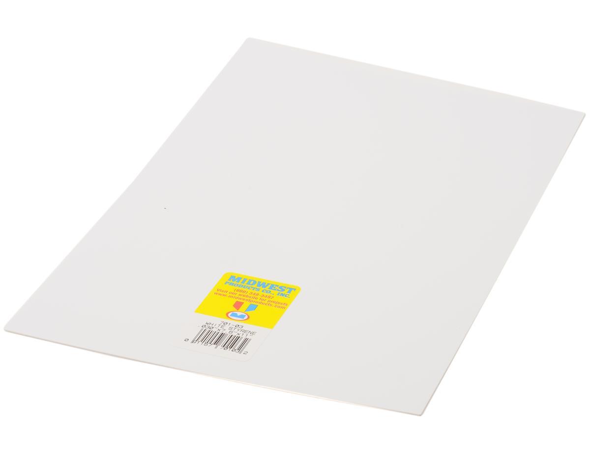 """White Styrene .040 x 7.6 x 11"""""""