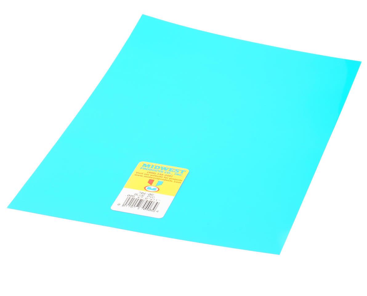 "Midwest Clear, Blue PVC .005 x 7.6 x 11"""