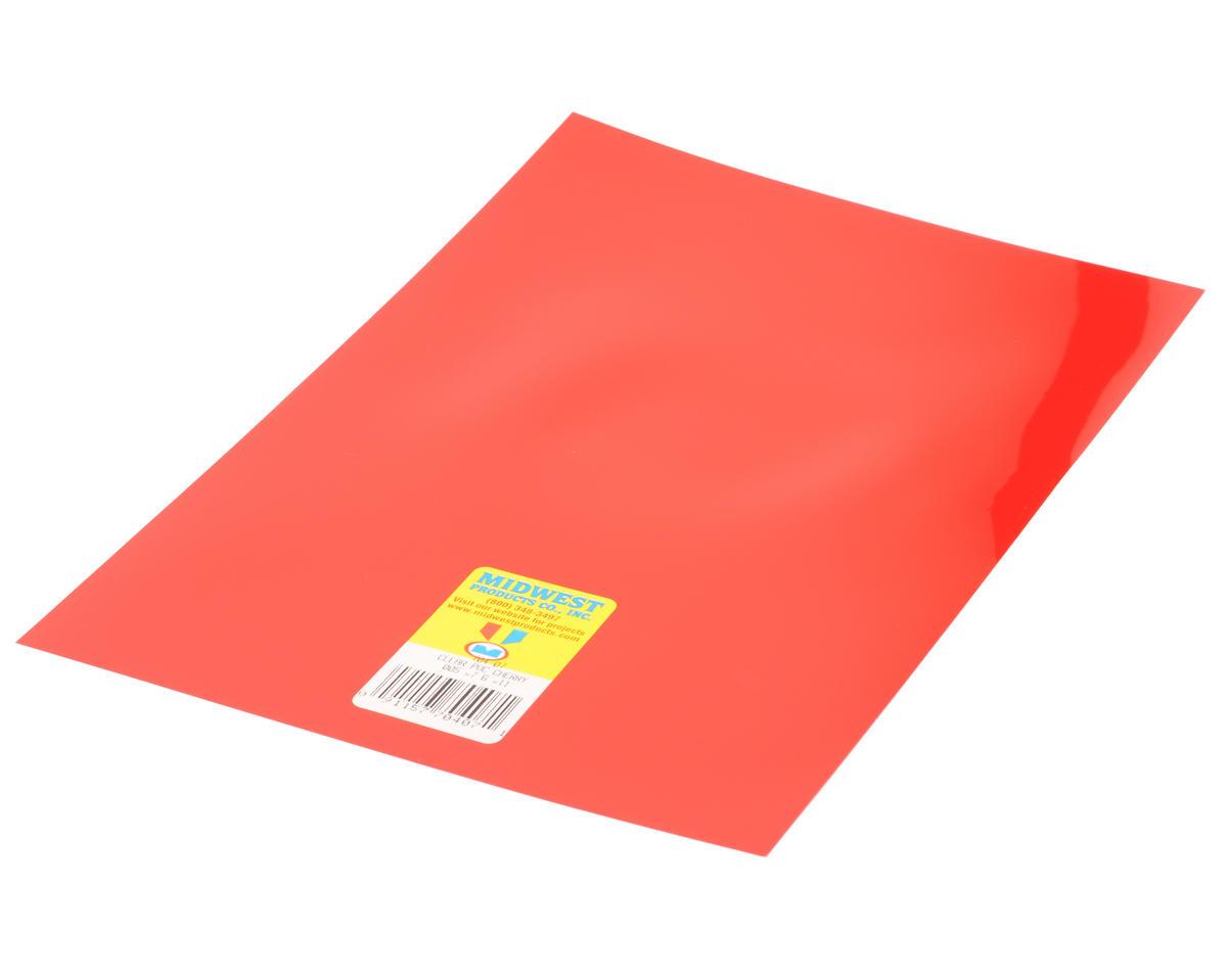 "Midwest .005 x 7.6 x 11"" PVC Sheet (Cherry)"